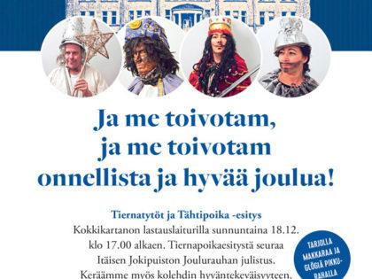 Joulunajan ohjelmaa Itäisessä Jokipuistossa